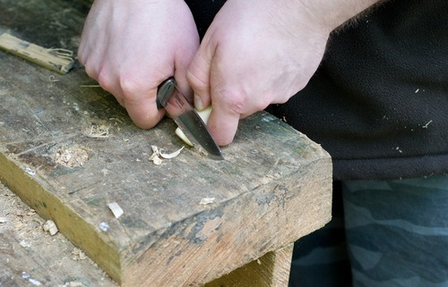 carving a catapult