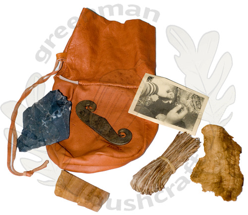 Fire Lighting Kit in Reindeer Leather Pouch